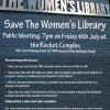 Save the Women&#8217;s Library 6th July