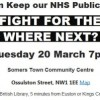 Public Meeting: Fight for the NHS: Where Next? 20th March