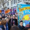 London marches to protect pensions: the homemade banners